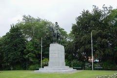 Monumento al rey Albert y su ejército en Brujas Foto de archivo