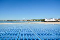 Monumento al Sun, Zadar/Croacia Fotografía de archivo