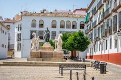 Monumento al torero Manolete en la plaza Conde de Priego, Cordo foto de archivo libre de regalías
