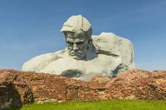 Monumento al valiente, fortaleza de Brest, Belarus de la guerra Foto de archivo