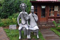 Monumento a Albert Einstein e a Niels Bohr imagem de stock royalty free