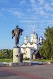 Monumento a Alexander Nevsky, Veliky Novgorod Imagenes de archivo