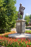 Monumento a Alexander Suvorov en la región de Novgorod Imagenes de archivo