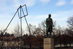 Monumento all'artista ceco Josef Manes Fotografie Stock