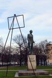 Monumento all'artista ceco Josef Manes Fotografia Stock