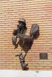 Monumento all'eroe letterario, Kharkov, Ucraina Immagini Stock