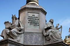 Monumento all Immacolata在罗马 库存照片
