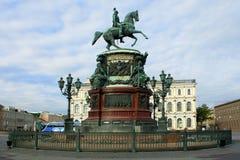 Monumento all'imperatore Nicholas I Fotografia Stock Libera da Diritti
