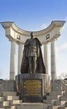 Monumento all'imperatore russo Alessandro II vicino alla cattedrale di Cristo il salvatore il 31 marzo 2012 a Mosca, Russia Immagine Stock