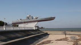 Monumento alla barca corazzata della flottiglia di Azov archivi video
