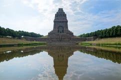 Monumento alla battaglia delle nazioni Das Völkerschlachtdenkmal in Lipsia, Germania immagini stock libere da diritti
