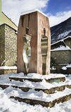 Monumento alla costituzione 1993 in La Vella dell'Andorra l'andorra Fotografia Stock