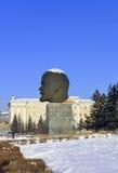 Monumento alla testa di Lenin fotografia stock
