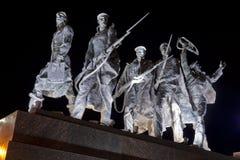 Monumento alle protezioni eroiche di Leningrado Fotografia Stock