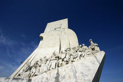 Monumento alle scoperte a Lisbona Fotografia Stock