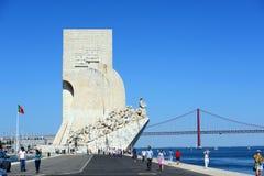 Monumento alle scoperte, Lisbona, Portogallo Fotografia Stock Libera da Diritti