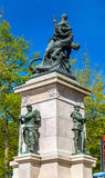 Monumento alle vittime della guerra Franco-prussiana a Nantes, Francia Fotografia Stock Libera da Diritti