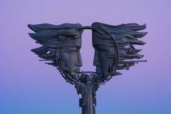 Monumento a amar en la costa en Saratov Fotografía de archivo