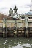 Monumento americano del ` s de Mariner del comerciante situado en el parque de batería en Manhattan céntrica imagen de archivo libre de regalías