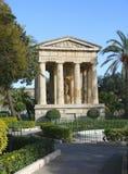 Monumento antico, centro della città di Valleta della La vecchio, Malta Fotografia Stock Libera da Diritti