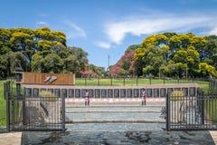 Monumento ao caído em Malvinas no general San Martin Plaza em Retiro - Buenos Aires, Argentina fotos de stock royalty free