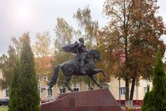 Monumento ao cavaleiro a cavalo imagem de stock