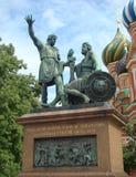 Monumento ao cidadão Mininu e príncipe Pozharskomu Fotos de Stock