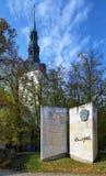 Monumento ao escritor estónio Eduard Vilde, Tallinn Fotografia de Stock