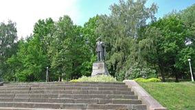 Monumento ao escritor Peter Cvirka em Vilnius vídeos de arquivo