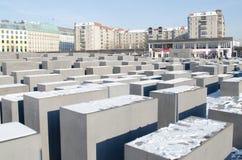 Monumento ao holocausto em Berlim Imagens de Stock Royalty Free