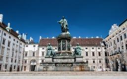 Monumento ao imperador Franz mim de Áustria, Viena foto de stock