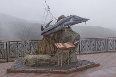 monumento ao livro de Rei-peixes de Victor Astafiev imagens de stock