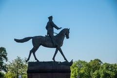 Monumento ao marechal Zhukov fotografia de stock