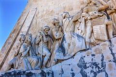 Monumento ao porto de Tagus River Belém Lisboa dos exploradores de Diiscoveries imagens de stock