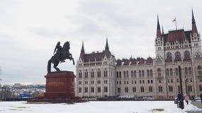 Monumento ao príncipe Ferenc II Rakoczi Budapest fotografia de stock