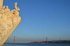 Monumento ao quadrado de Belém das descobertas Foto de Stock