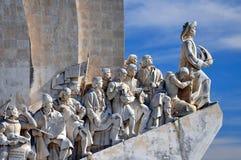 Monumento aos descobridores, Lisboa, Portugal imagens de stock