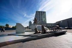 Monumento aos exploradores polares imagem de stock