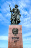 Monumento aos fundadores da cidade de Irkutsk Fotos de Stock Royalty Free