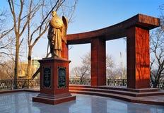 Monumento aos heróis da guerra Russo-Japonesa fotografia de stock