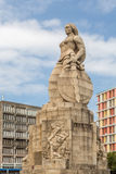 Monumento aos Mortos da I Grande Guerra Maputo Mozambique. Statue of a woman with a sword and shield on one side and a serpent on the other, erected to Royalty Free Stock Images