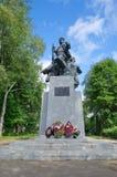 Monumento aos partidários, Ostashkov, região de Tver, Rússia foto de stock royalty free