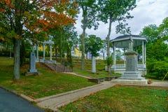 Monumento aos soldados de WWI, em Lunenburg fotos de stock royalty free