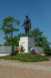 Monumento aos soldados do russo que morreram na segunda guerra mundial, na região de Kaluga em Rússia Foto de Stock Royalty Free