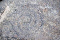 Monumento arqueológico Petroglifos Sikachi-Alan Fotos de archivo
