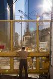 9/11 monumento bajo construcción Imagenes de archivo