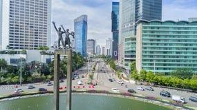 Monumento benvenuto nella rotonda dell'Indonesia dell'hotel immagine stock