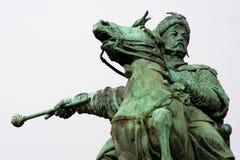 Monumento a Bogdan Khmel'nickiy en Kiev Fotos de archivo libres de regalías