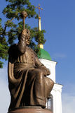Monumento a Bogdan Khmelnitsky, cerca de la iglesia ortodoxa ucraniana fotografía de archivo libre de regalías