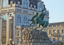 Monumento a Bogdan Khmelnitsky di Kiev Fotografia Stock Libera da Diritti